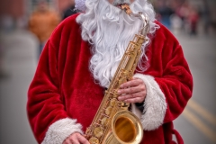 Santa Toots His Own Horn