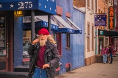 Red Hatted Man On Lark Street
