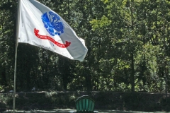 The Army Flag at the Pond