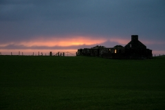 Abandoned Crofter039s Cottage With Sunset Orkneys