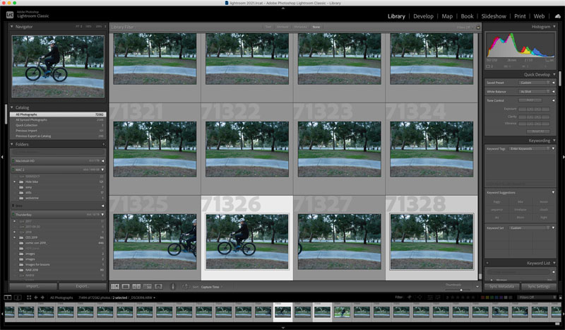 Timelapse in lightroom